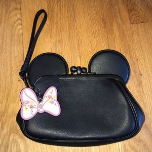 Coach Minnie Mouse wristlet.  Great condition.